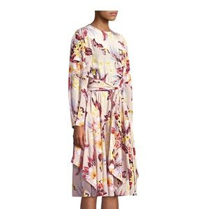 DIANE VON FURSTENBERG DVF Draped midi dress bone!